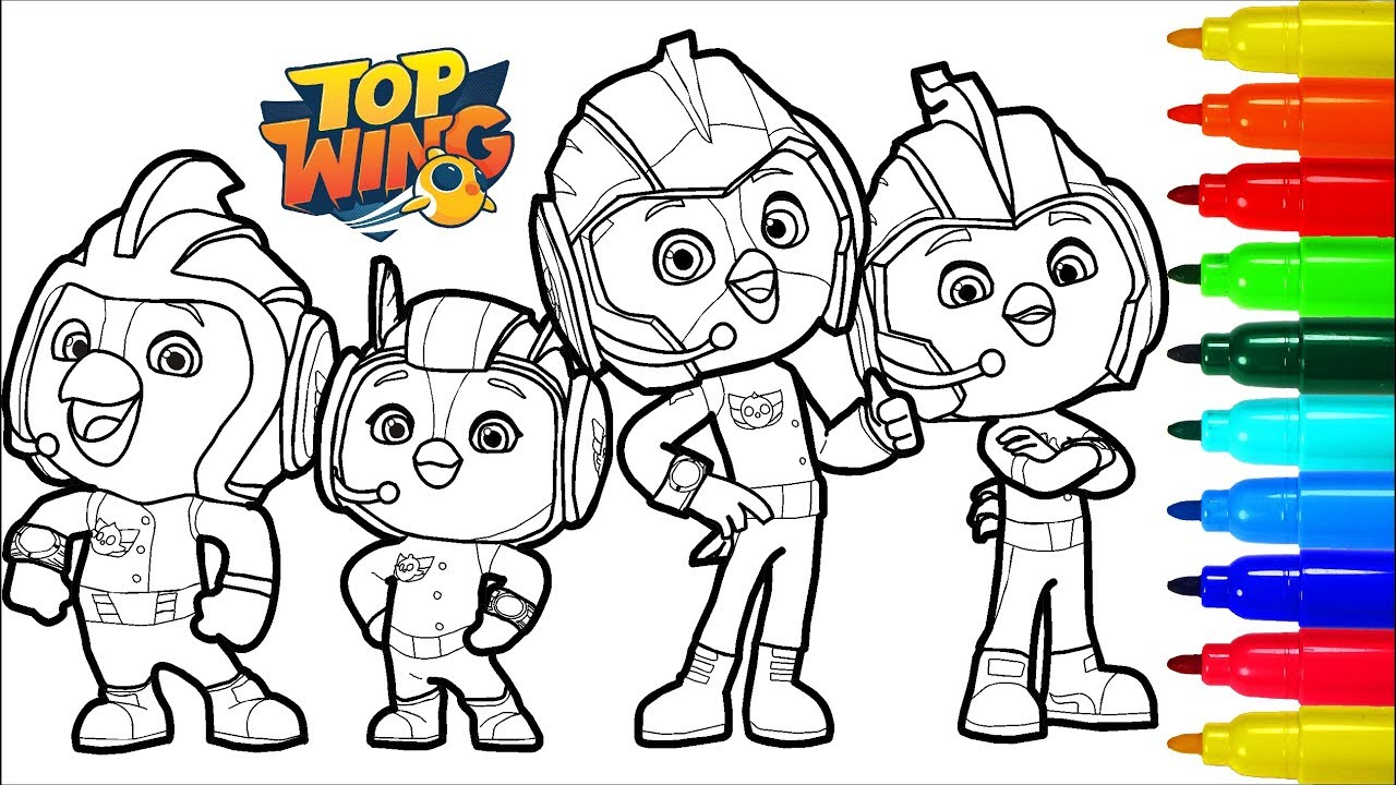 Top Wing Coloring Pages