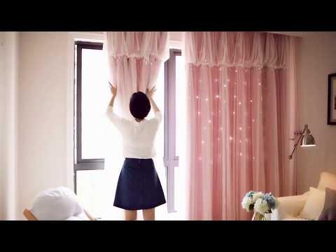 6 Colors Pastel Starry Princess Curtains SP1711221