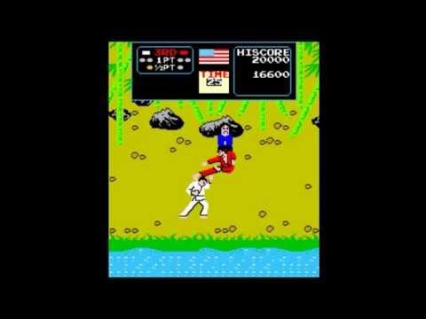 KARATE CHAMP VS - Arcade (Data East) Gameplay 1 Loop.