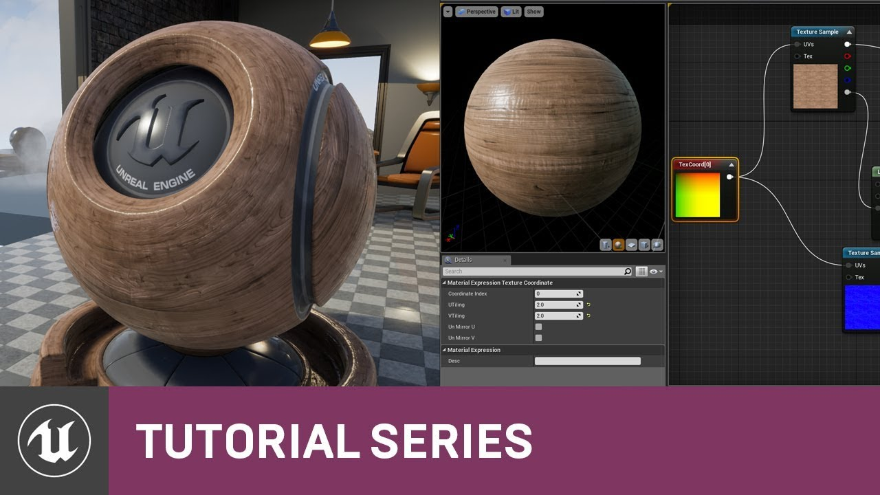 Intro to Materials: Adding Textures to a Material | 03 | v4 0 Tutorial  Series | Unreal Engine