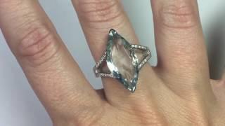 Anillo Aguamarina y Diamantes Nicols - 99927860013