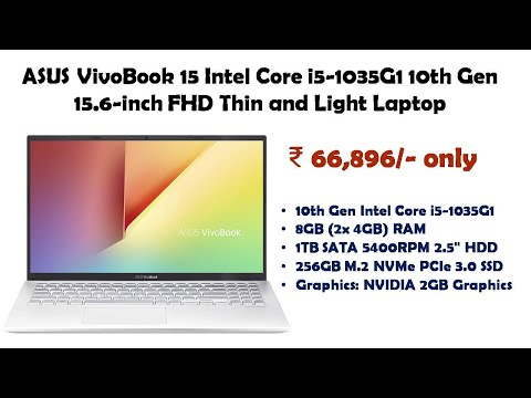 ASUS VivoBook 15 Intel Core i5-1035G1 10th Gen 15.6-inch FHD Thin and Light Laptop reviews