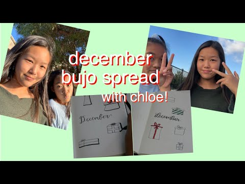 December Bujo Spread W/ Chloe!
