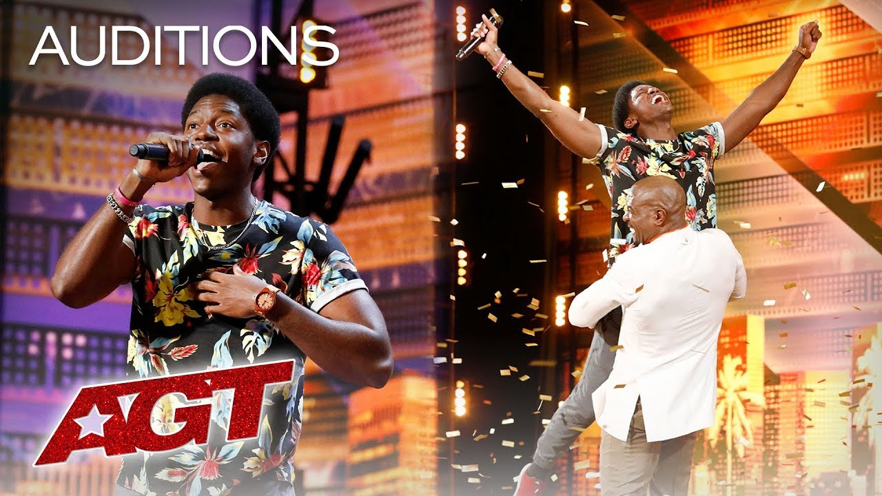 Golden Buzzer: Joseph Allen Leaves Exciting Footprint With Original Song - America's Got Talent