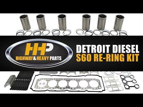 Diesel Engine Re-Ring Rebuild Kit, Detroit Diesel Series 60, Highway And Heavy Parts