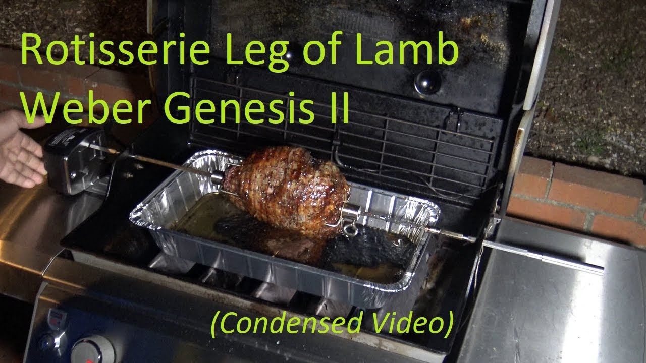 Pulled Pork Gasgrill Rotisserie : Rotisserie leg of lamb weber genesis ii e 310 gas grill condensed