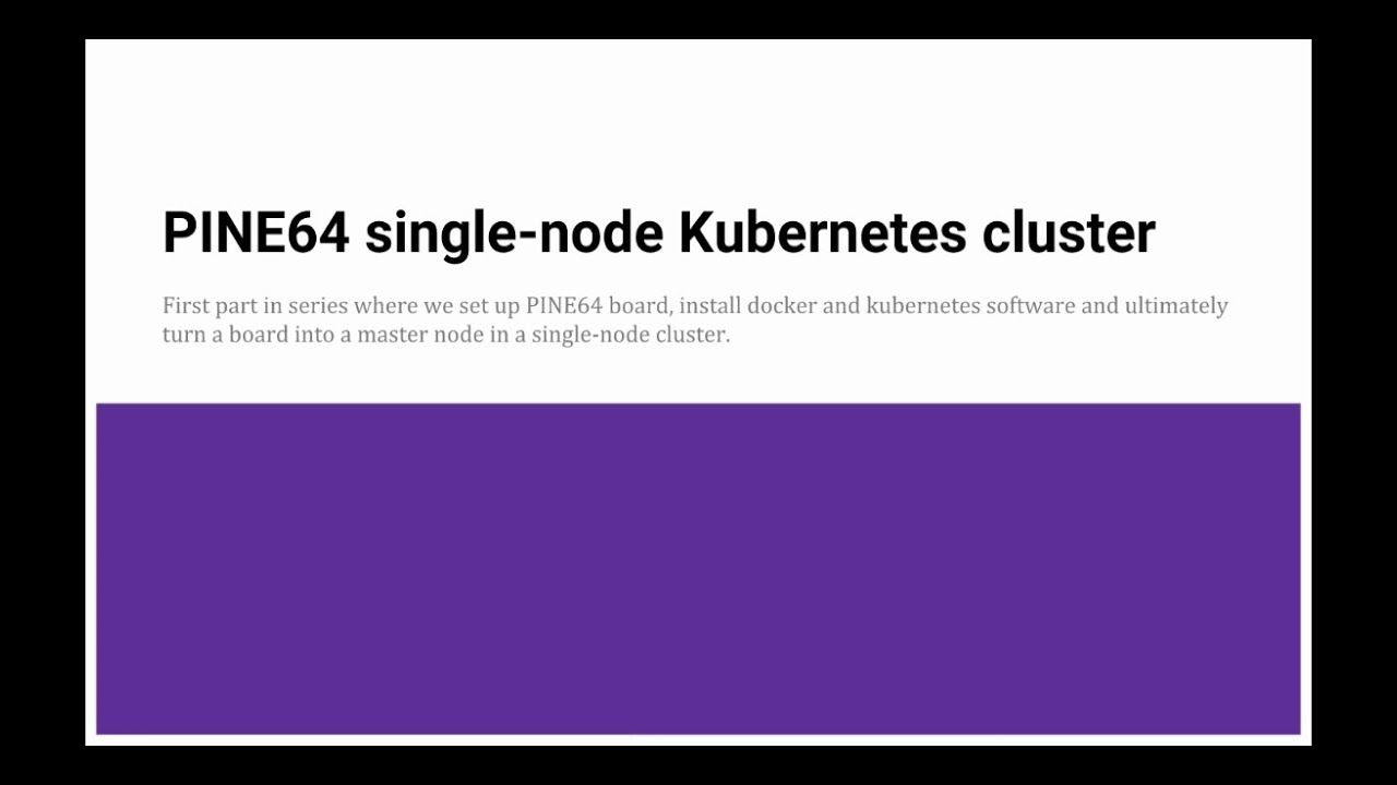 Install kubernetes centos 7 single node | Peatix
