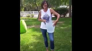 Catherine Bell   ALS Ice bucket challange 19 8 2014