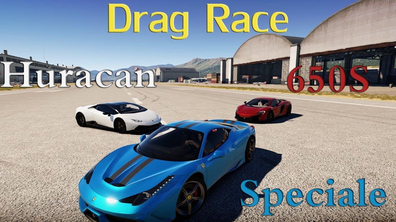 forza horizon 2 drag race battle lamborghini huracan vs ferrari 458 speciale vs mclaren 650s youtube - Ferrari 488 Vs Lamborghini Huracan