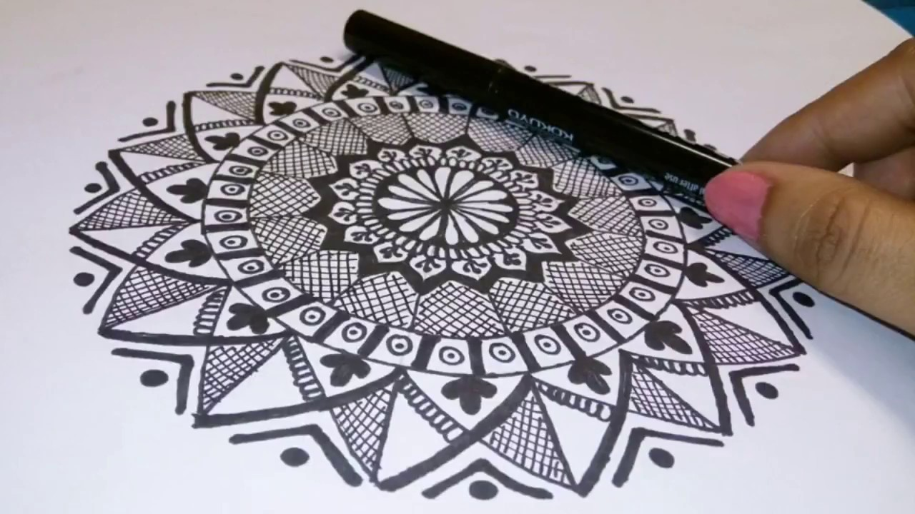 how to draw mandala art for beginners simple easy mandala art by
