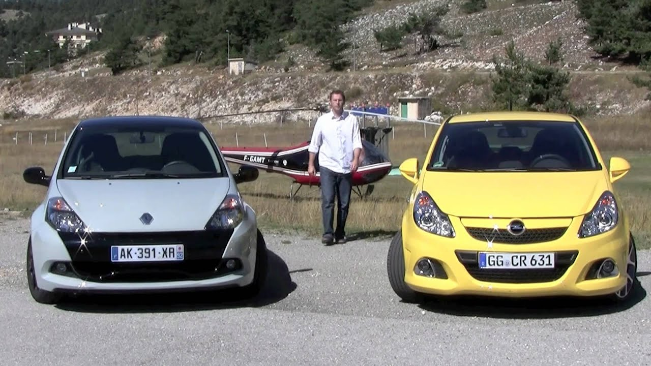 comparatif opel opc renault clio rs youtube. Black Bedroom Furniture Sets. Home Design Ideas