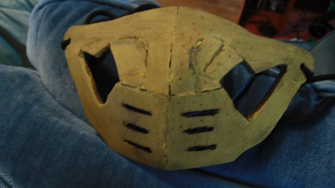 How To Make A Scorpion Mask From Mortal Kombat X Youtube