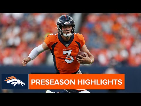 Every Drew Lock Completion From The 2019 Preseason
