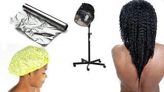 LOW POROSITY HAIRCARE ROUTINE: Thermal Heat Cap vs Steamer vs Paper Foil Vs Plastic Cap Hat