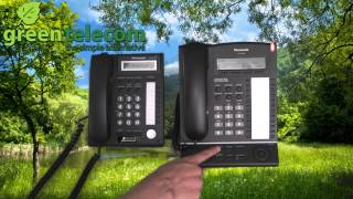Clearing message light on Panasonic business handsets