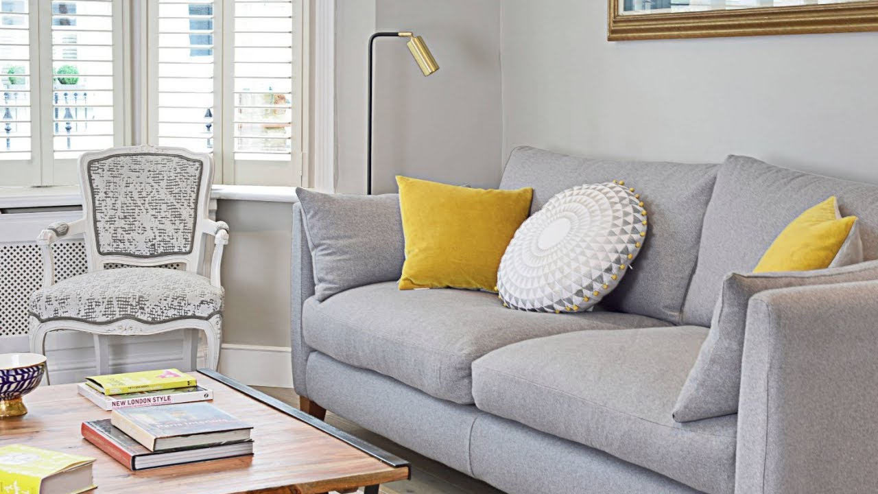 24 Grey And Yellow Living Room Ideas Youtube