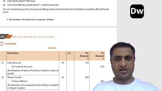Lecture 2 - Rectification of Errors-  Part 2 - CA Foundation - Accounts
