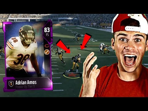 NEW PINK ADRIAN AMOS IS A GOD! HE SCORED A RUSHING TOUCHDOWN HOW OMG! | MADDEN 18 ULTIMATE TEAM