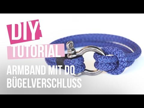 DIY: Armband mit DQ Bügelverschluss und Macramé