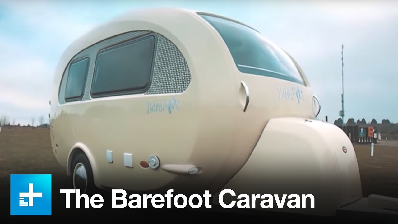 The Barefoot Caravan - A Luxury Tiny House On Wheels - YouTube