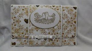 Видео-обзор. Свадебный конверт для денег. Скрапбукинг
