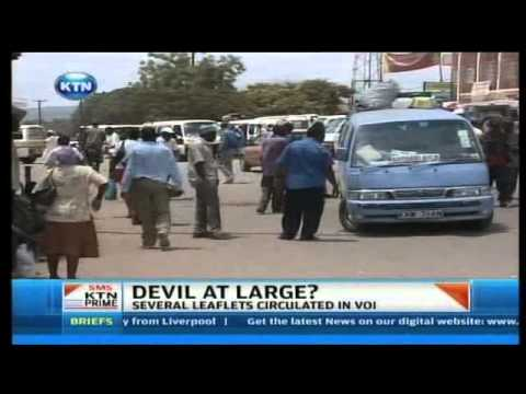 Voi 'Devil Worshipers' giving out invitations - YouTube