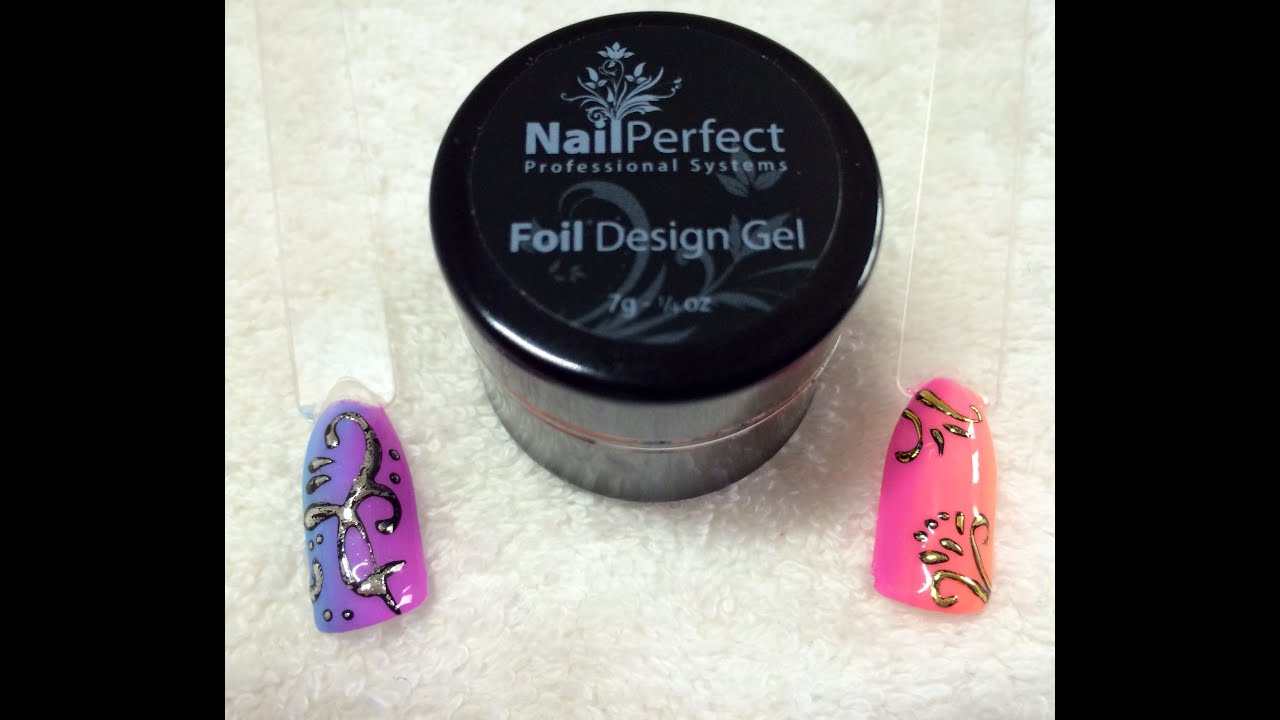 Review: Nailperfect.net Foil Design Gel for embossing nail art - YouTube