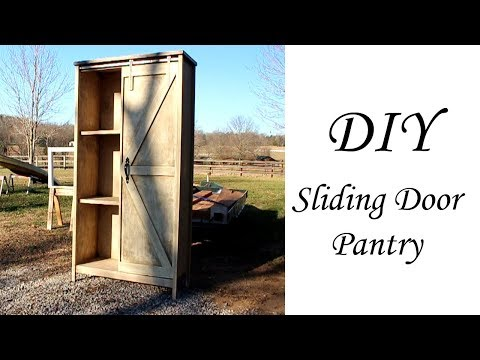 DIY sliding door pantry