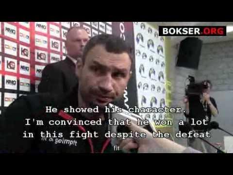 Vitali Klitschko - Interview after defeating Albert Sosnowski