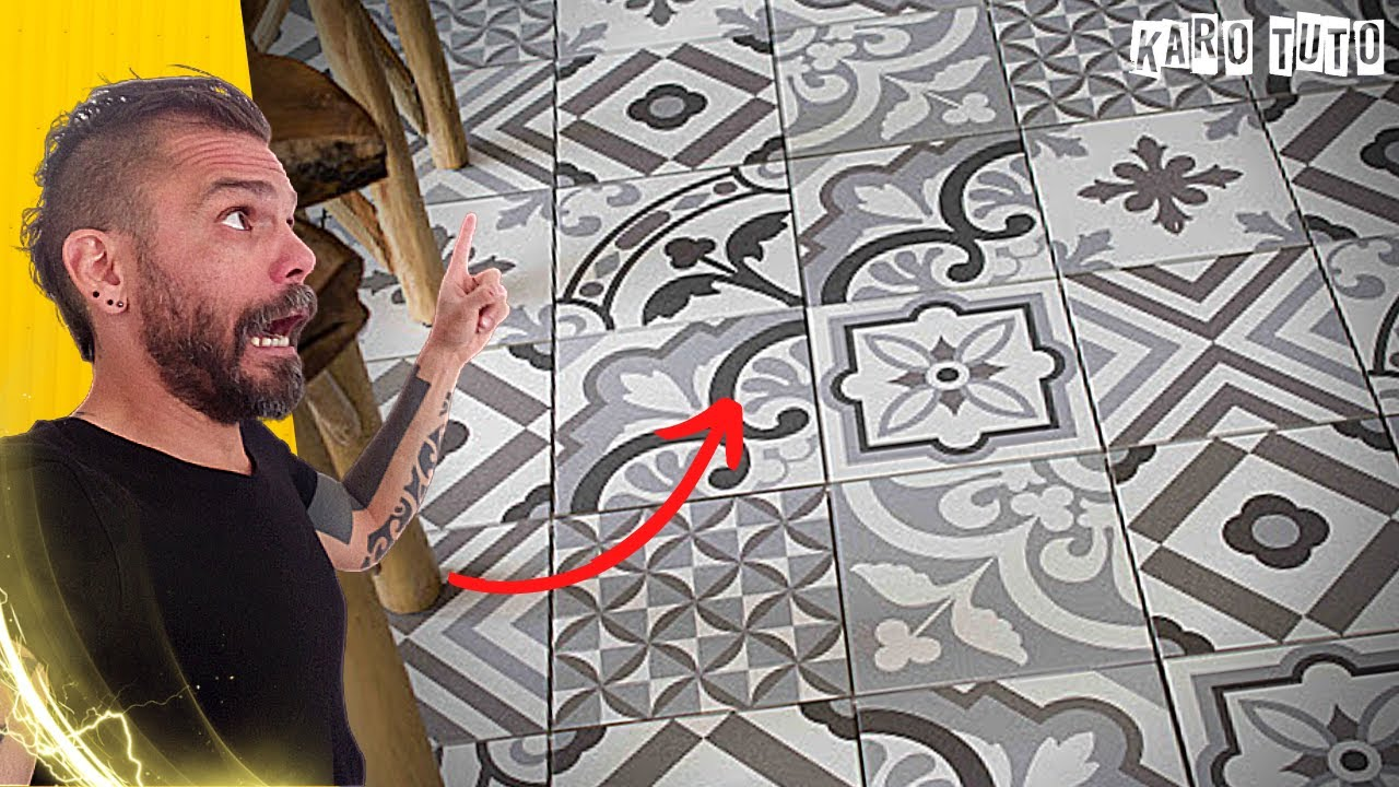 comment poser du carrelage imitation carreaux de ciment. Black Bedroom Furniture Sets. Home Design Ideas