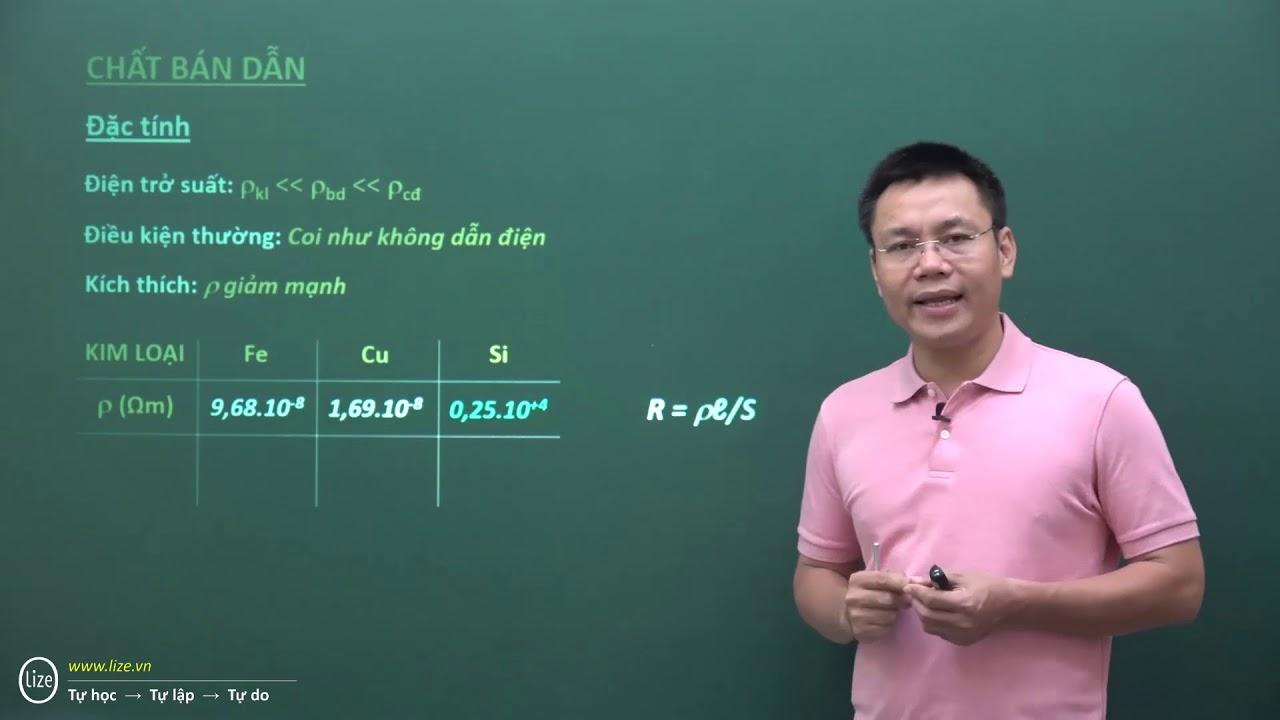 Dòng điện trong chất bán dẫn – Thầy Nguyễn Thành Nam