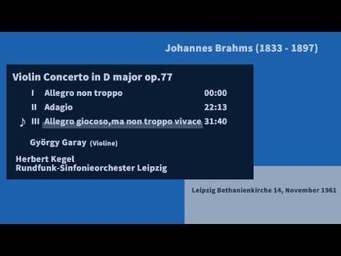 J.Brahms Violin Concerto - H.Kegel 1961