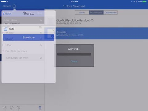 Importing, Exporting And Backing Up Your Data In Notability