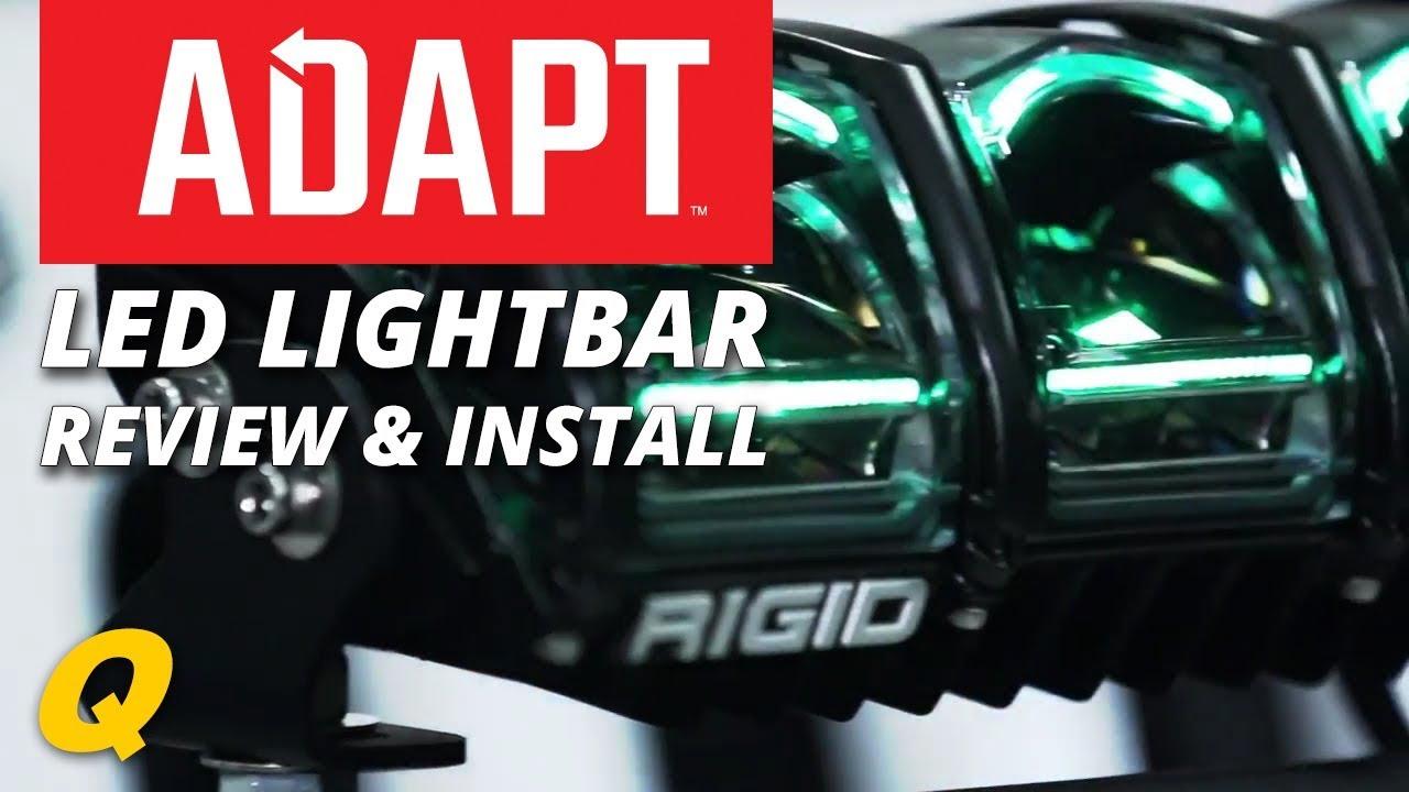 medium resolution of rigid industries adapt led lightbar install on jeep wrangler jk