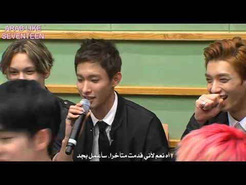 150915 SUKIRA Kiss The Radio - SEVENTEEN [ Arabic Sub ]