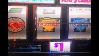Excellent★DOUBLE DIAMOND STRIKE - $1 Slot - 3 Reel @ Pechanga Resort & Casino 勝負師, アカフジ, 赤富士スロット