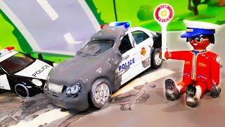 Мультики про полицейские машинки. Видео для детей с игрушками - Полицейская погоня. Мультфильмы 2018
