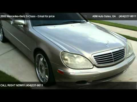 2000 mercedes benz s class s500 for sale in loganville for Mercedes benz s550 for sale in atlanta ga