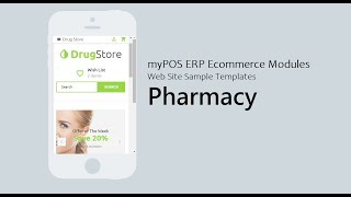 #myPOS #ERP #Web myPOS Ecommerce Modules - Web Site Sample Templates (Pharmacy)