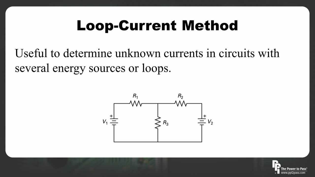 Fe Eit Exam Dc Circuit Analysis Loop Current Method Youtube Dccircuit