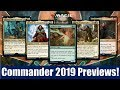 MTG Commander 2019 Previews: All 4 Front Facing Commanders and More