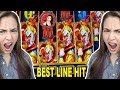 BEST LINE HIT EVER on Lucky Fortune Slots in Vegas w/ Lady ...