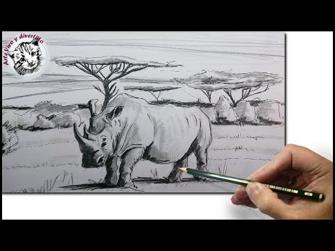Como Dibujar un Rinoceronte: Como Dibujar Animales Paso a Paso a Lapiz