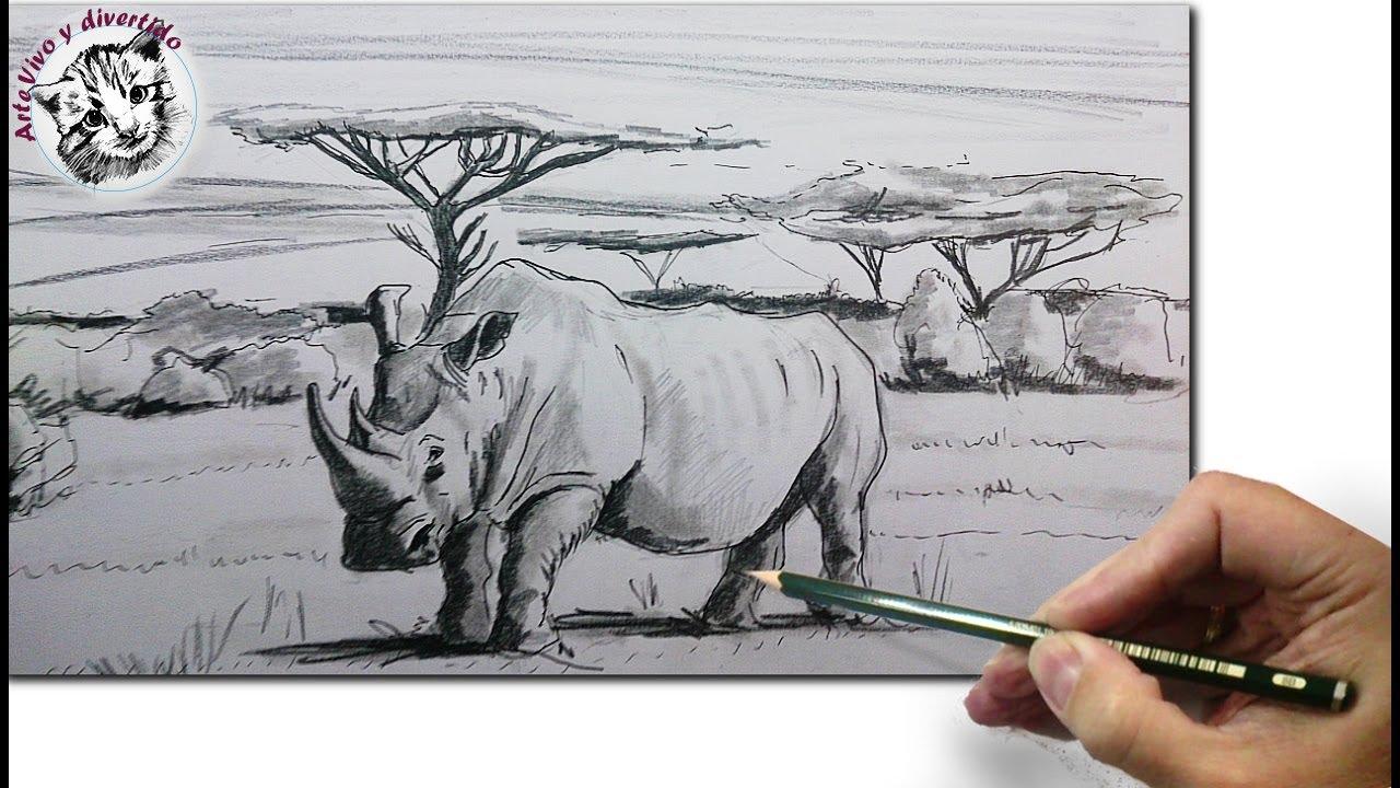 Como Dibujar un Rinoceronte: Como Dibujar Animales Paso a Paso a ...