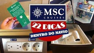 22 DICAS DENTRO DO NAVIO MSC   TOMADAS, BANHEIRO, TV, SECADOR E MAIS...