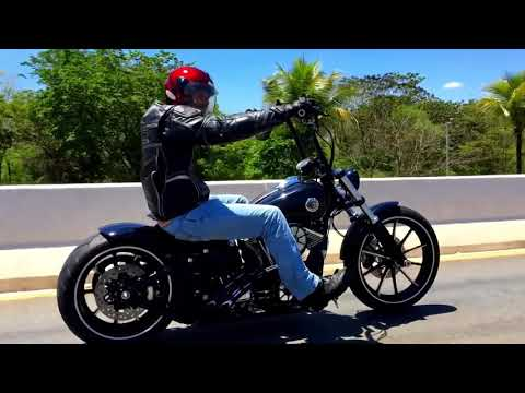 custom harley davidson breakout ape hanger rennel from. Black Bedroom Furniture Sets. Home Design Ideas