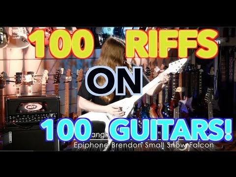 100 Riffs On 100 Guitars!!!