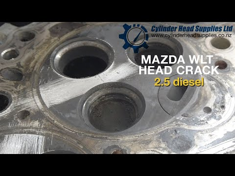MAZDA WLT Engine Head Crack. Most Common Place For Cracking.
