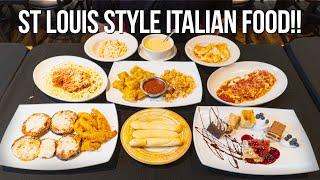 St Louis Italian Food Challenge w/ Toasted Ravioli, Lasagna, & Fish!!