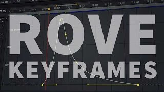 Roving Keyframes (or roved, or roves) - Adobe After Effects tutorial
